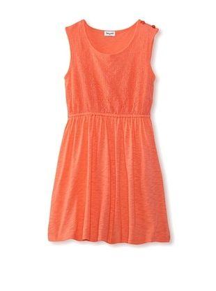 65% OFF Splendid Littles Girls 2-6X Slub Crocheted Dress (Coral)