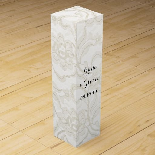 white lace wedding wine gift box wine gift boxes wine gifts white lace ...