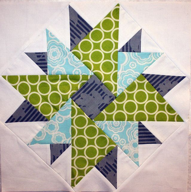 Stunning! The colors really make this quilt block!
