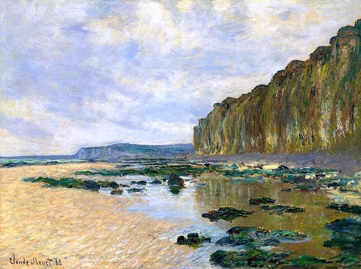 Claude Monet / Low Tide at Varengeville, 1882