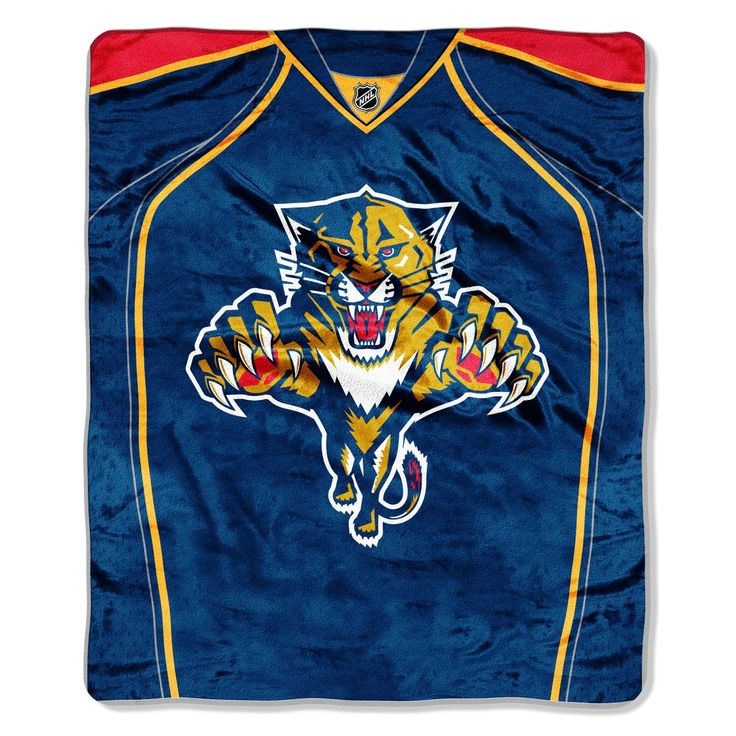 """FL Panthers OFFICIAL National Hockey League, """"Jersey"""" 50""""x 60"""" Raschel Throw by The Northwest Company"""