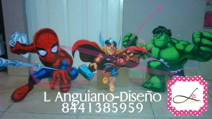 Display para Fiesta Infantil del personaje que necesites. By. Linda Anguiano