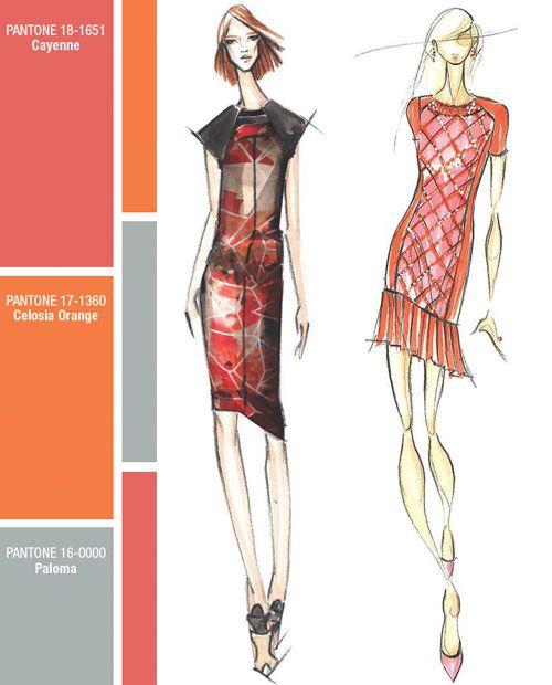 spring summer 2014 new york fashion week color report, pantone, Bibhu Mohapatra, Pamella Roland by Pamella Devos