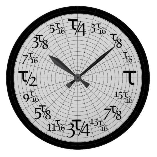 Reloj Redondo Grande Múltiplos del Tau