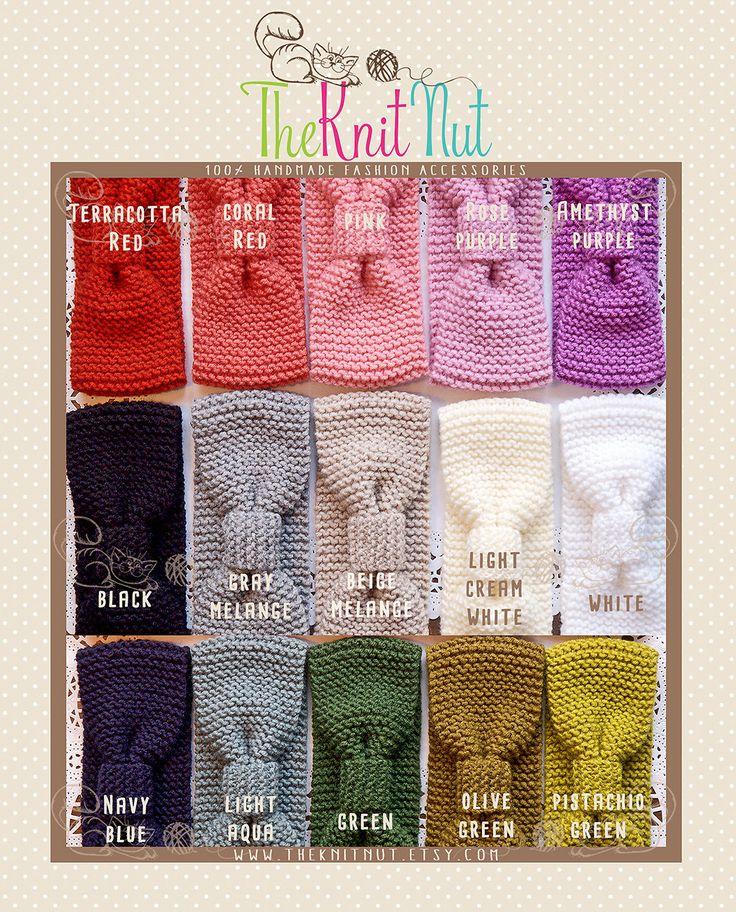 15 pcs Knitted Turban Headband, Knit Ear Warmer, Women's Winter Accessory, Knit Head Wrap, Knitted Ear Warmer, Knit Hat Hair Wrap - pinned by pin4etsy.com