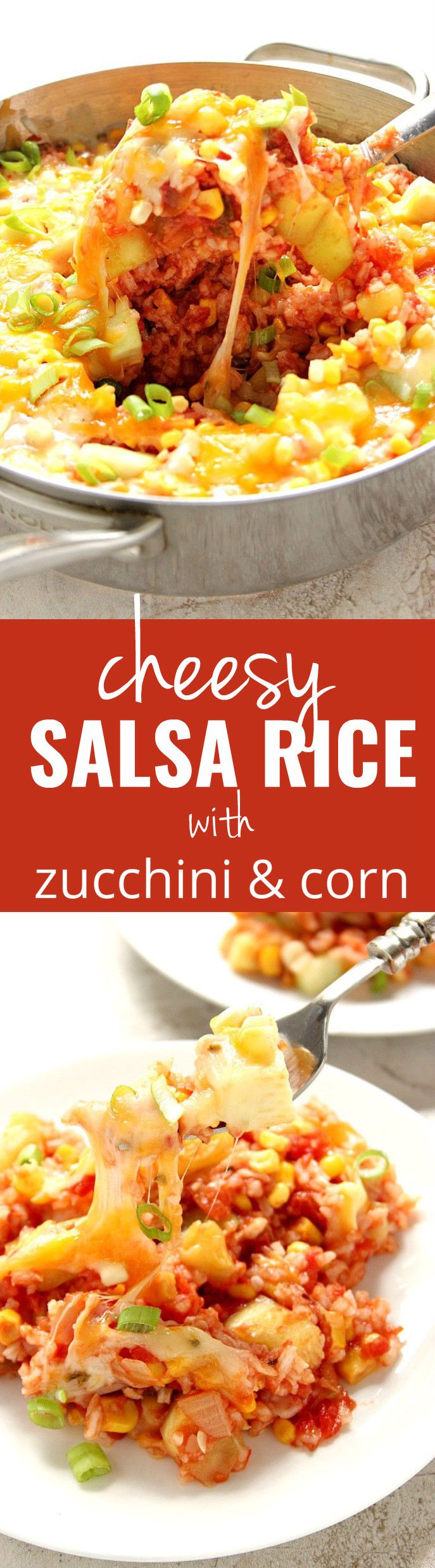Cheesy Salsa Rice with Zucchini and Corn | Recipe ...