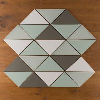 69 Best Triangle Tile Inspiration Images On Pinterest