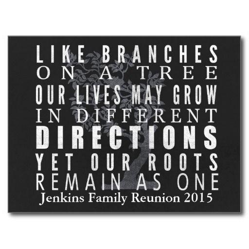 Chalkboard Branches Tree Family Reunion Invitation
