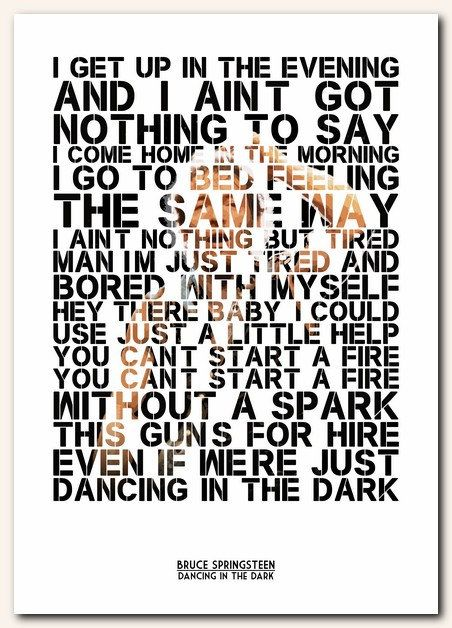 Just developed a new obsession and love for this song... #perfect #brucespringsteen #dancinginthedark