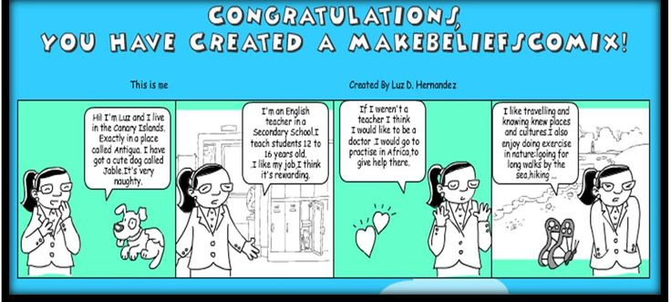makebeliefscomix,a simple but user friendly and practical tool to motivate pupils to write.I did my DIGITAL IDENTITY 123 Presentation with it. I also used in my 1st ESO class,for re-doing textbook  dialogues changing relevant data.