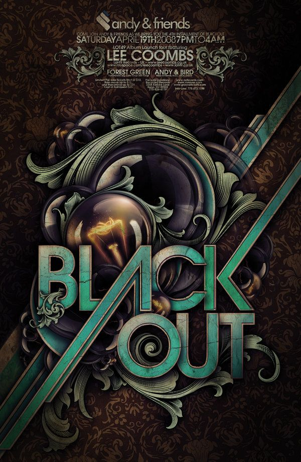 BLACKOUT POSTER by *Demen1 on deviantART    Forgive me - but I'm completely flipped for Steampunk and Nouveau