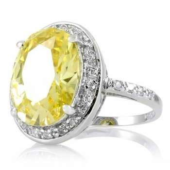 I think this is it!!! Carrie Underwood Inspired Canary Wedding Ring