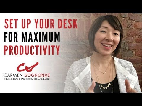 how to organize your desk for maximum productivity carmen sognonvi youtube things i love. Black Bedroom Furniture Sets. Home Design Ideas