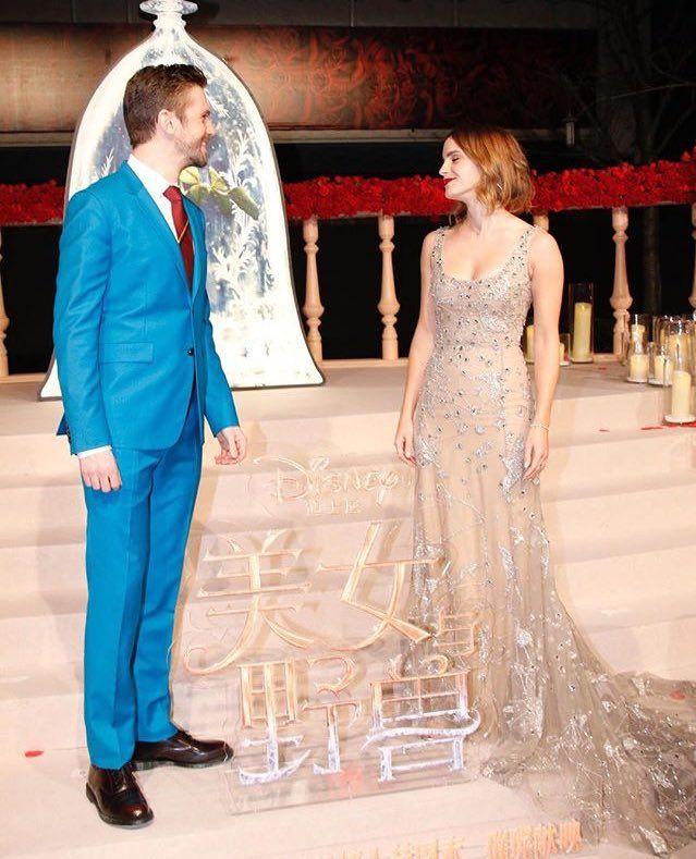Dan Stevens And Emma Watson At Shangai Premiere Of Beauty The Beast