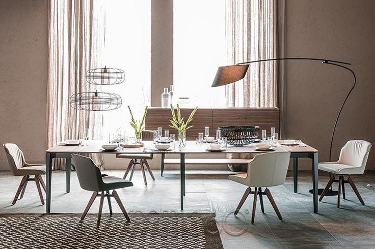Tyler Dining Chair with Nemo Drive Console by Cattelan Italia