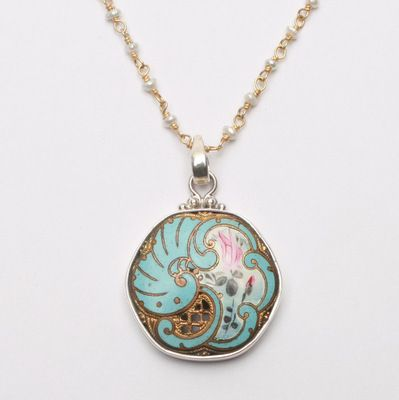 Enameled Button Necklace by Elizabeth Ngo – Fusion Art Glass Online Store