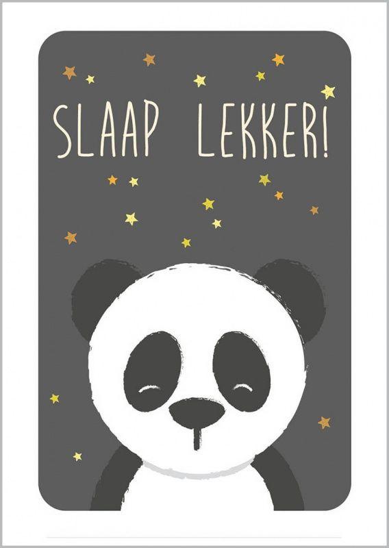 Poster Panda A4 - HippeKidsKamer.nl