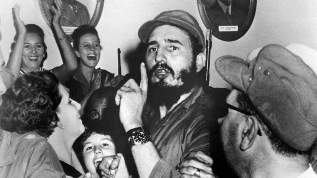 In 1956 the Castro brothers and Guevara returned to Cuba to launch a revolution…