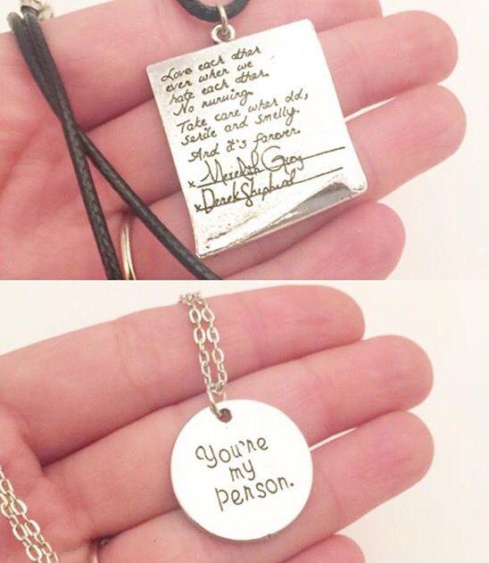 Grey's Anatomy necklaces, The Geeky Cauldron.