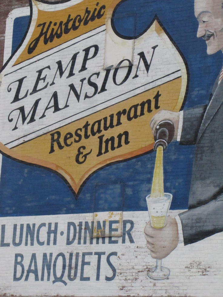 One of the top ten haunted places in America; the Lemp Mansion in St. Louis, Missouri.  Spent the night and it was awesome, but spooky!  The food is amazing.  Love the Steak Charles.  Highly recommend spending the night and having dinner.