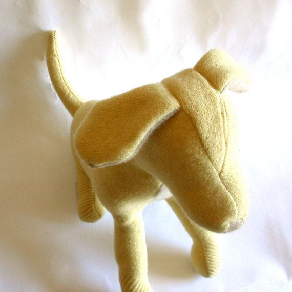 A Big Yellow Dog by zfla on Etsy