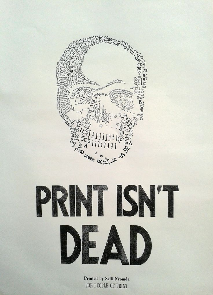 Poster printed with lead and wooden letter types. The skull is constructed out of lead types. Printed using traditional letterpress technic. #letterpress #woodtype #typography #poster