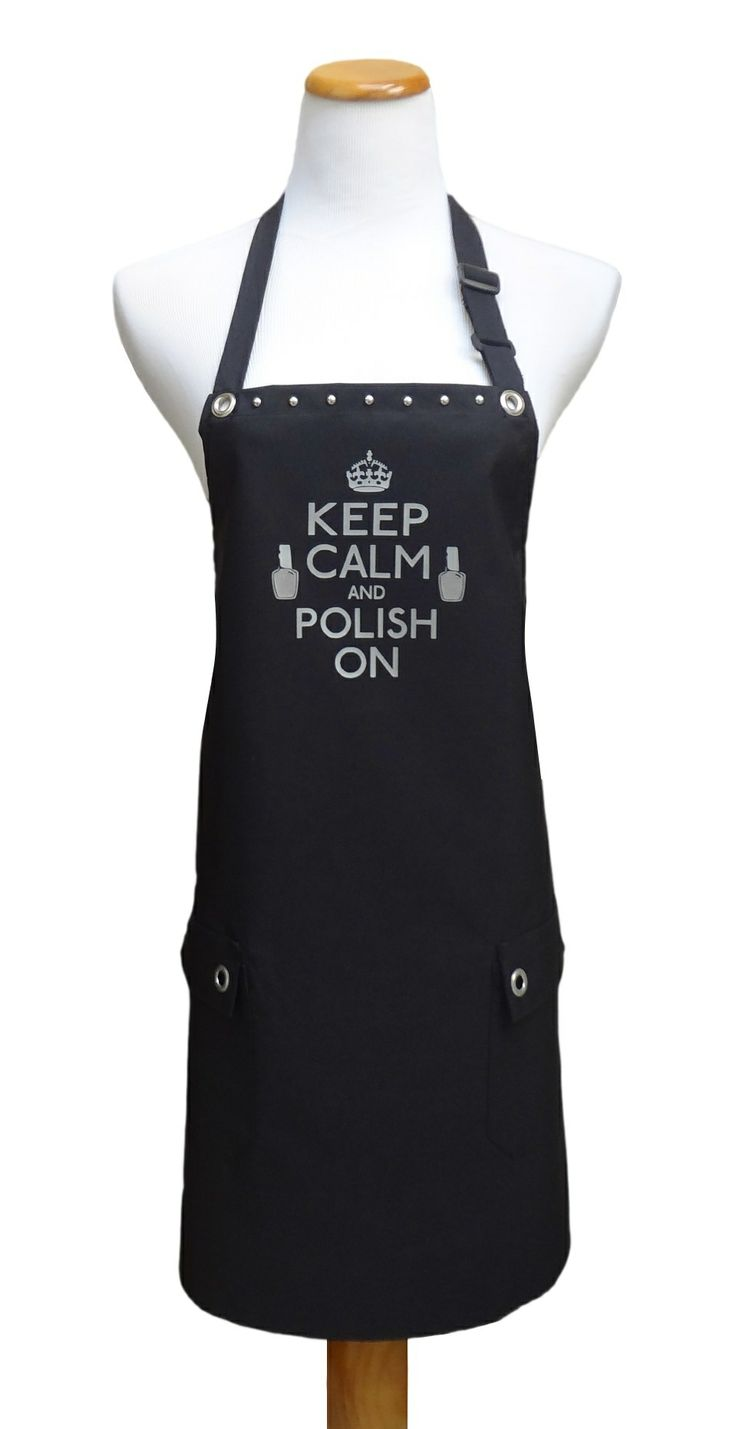 """Nail Tech apron """"Keep Calm"""" from TrendySalonAprons.com"""