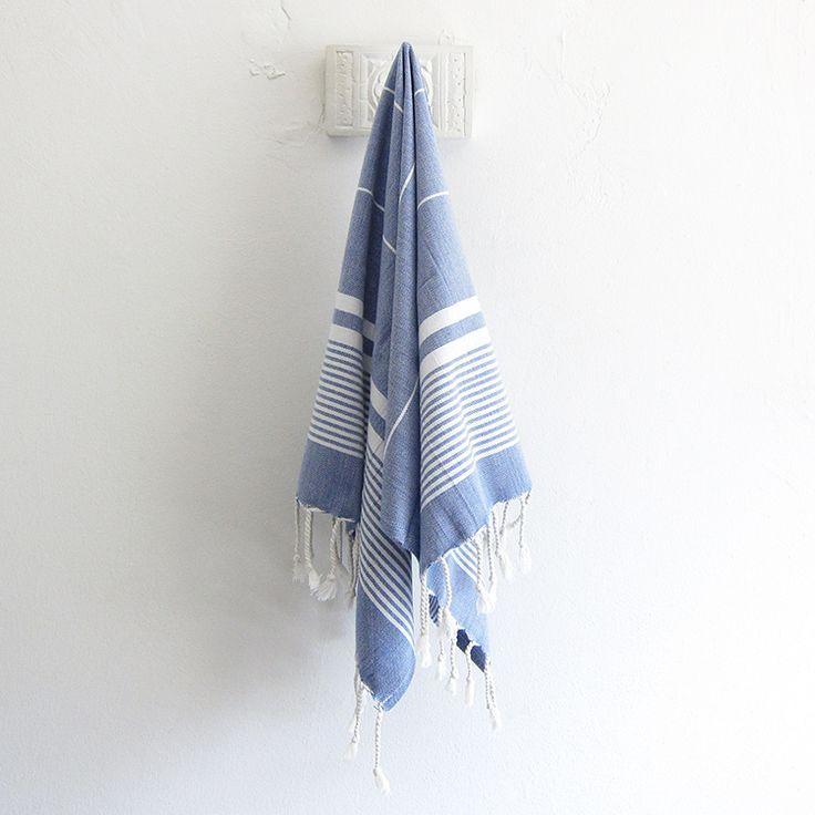 The Soho Turkish hand towel - indigo