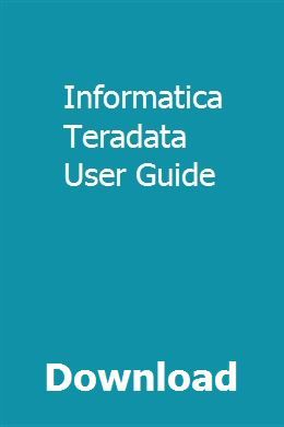 Informatica Powercenter Help Guide Pdf