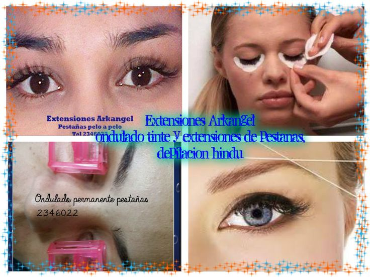 Extensiones pelo a pelo permanente de pestañas, tinte de cejas y pestañas, diseño de cejas con depilacion hindu