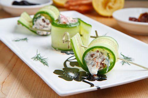 Cucumber and Feta Rolls