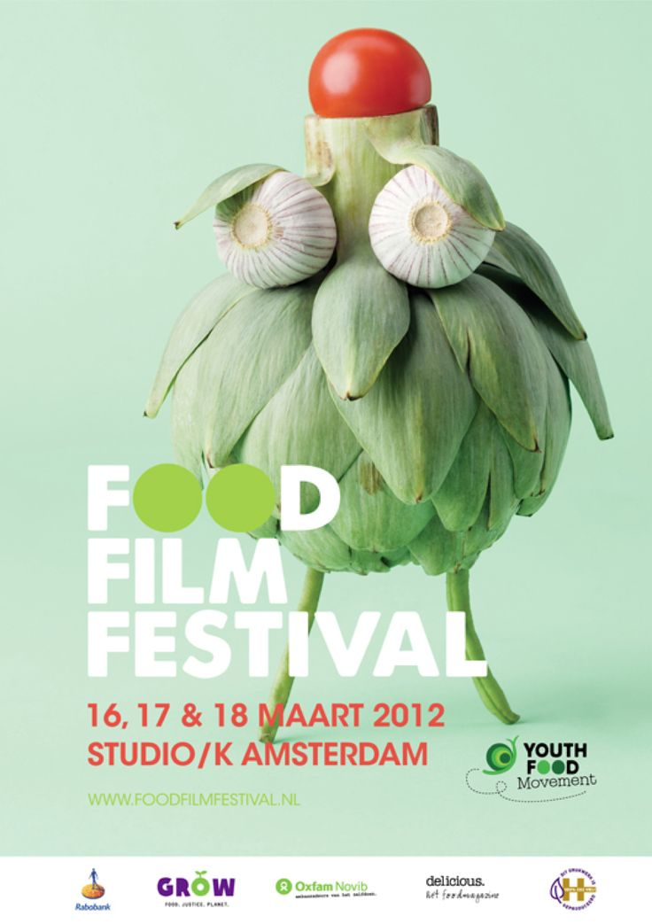 Food Film Festival 2012, Amsterdam. Clever photography #graphic design #poster #flyer