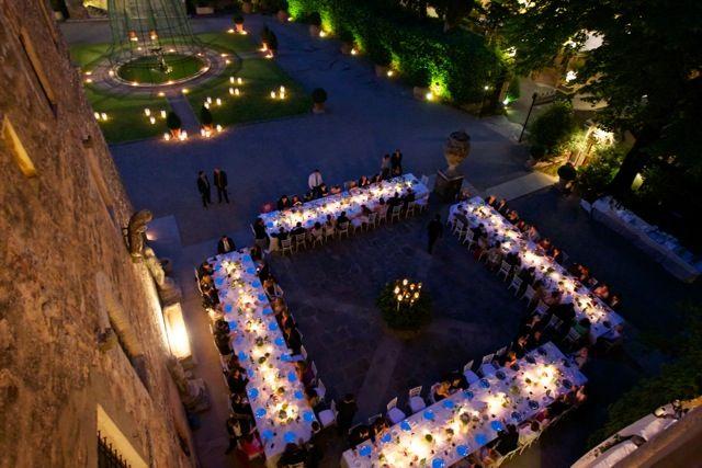 www.italianfelicity.com #weddinginitaly #weddingreception #longtables