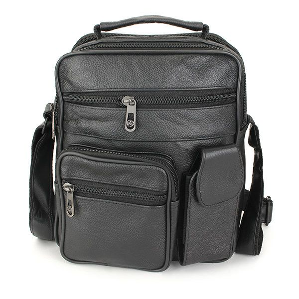 Men Leather Outdoor Leisure Crossbody Bag Business Hand Bag - US$18.21