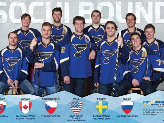 10 StL Blues Players Headed To Sochi