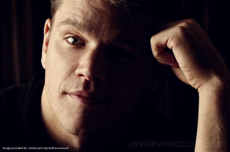 Matt Damon. Celebrity by andrewmaccoll - #Vimity http://www.vimity.com/vip/andrewmaccoll/portfolio/celebrity/#