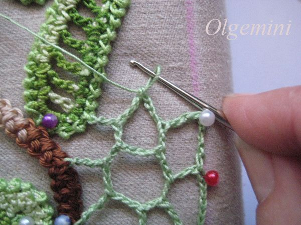 Freeform crochet class #freeform #crochet #lesson Great idea for decorating clothes.