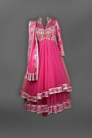 Featuring this beautiful Pink double layer Anarkali in our wide range of Suits. Grab yourself one Now!