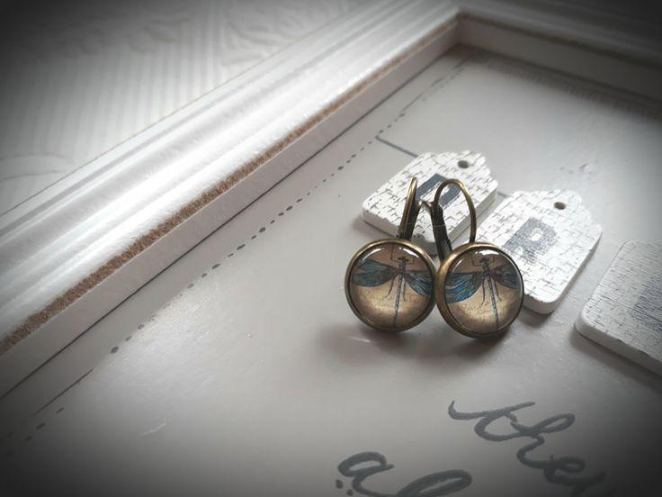 """Ohrschmuck - Shabby Chic, Vintage look Ohrringe """"Libelle"""" - ein Designerstück von Love-design bei DaWanda"""