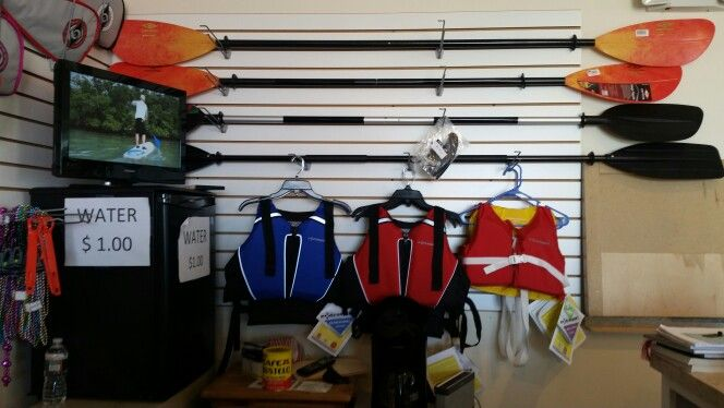 Kayak paddles for sale in Provincetown