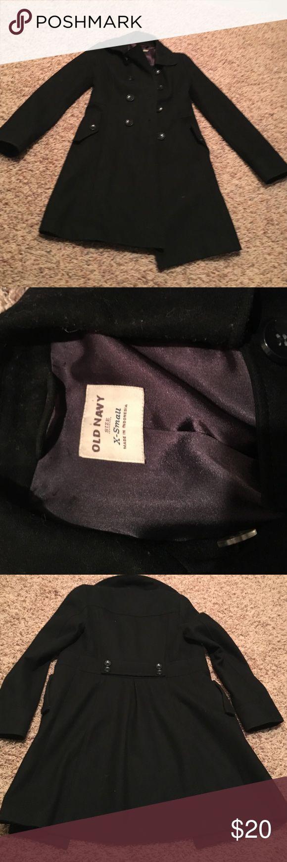 🚨FINAL SALE. Old Navy Pea Coat. Black. Old Navy peacoat. Black. Fair condition. Size X small. Old Navy Jackets & Coats Pea Coats