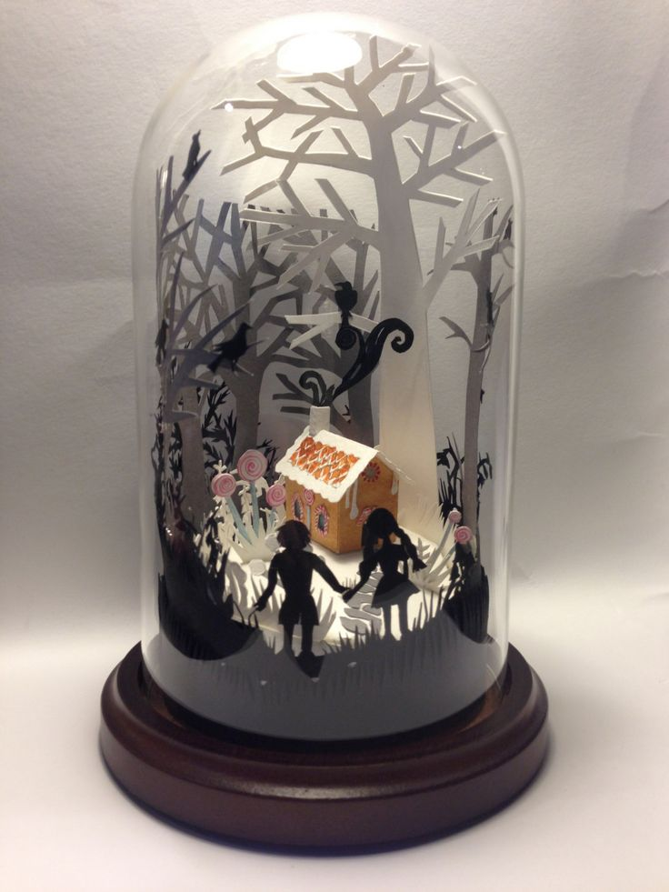 Hansel and Gretel Fairytale Glass Dome.. £120.00, via Etsy.