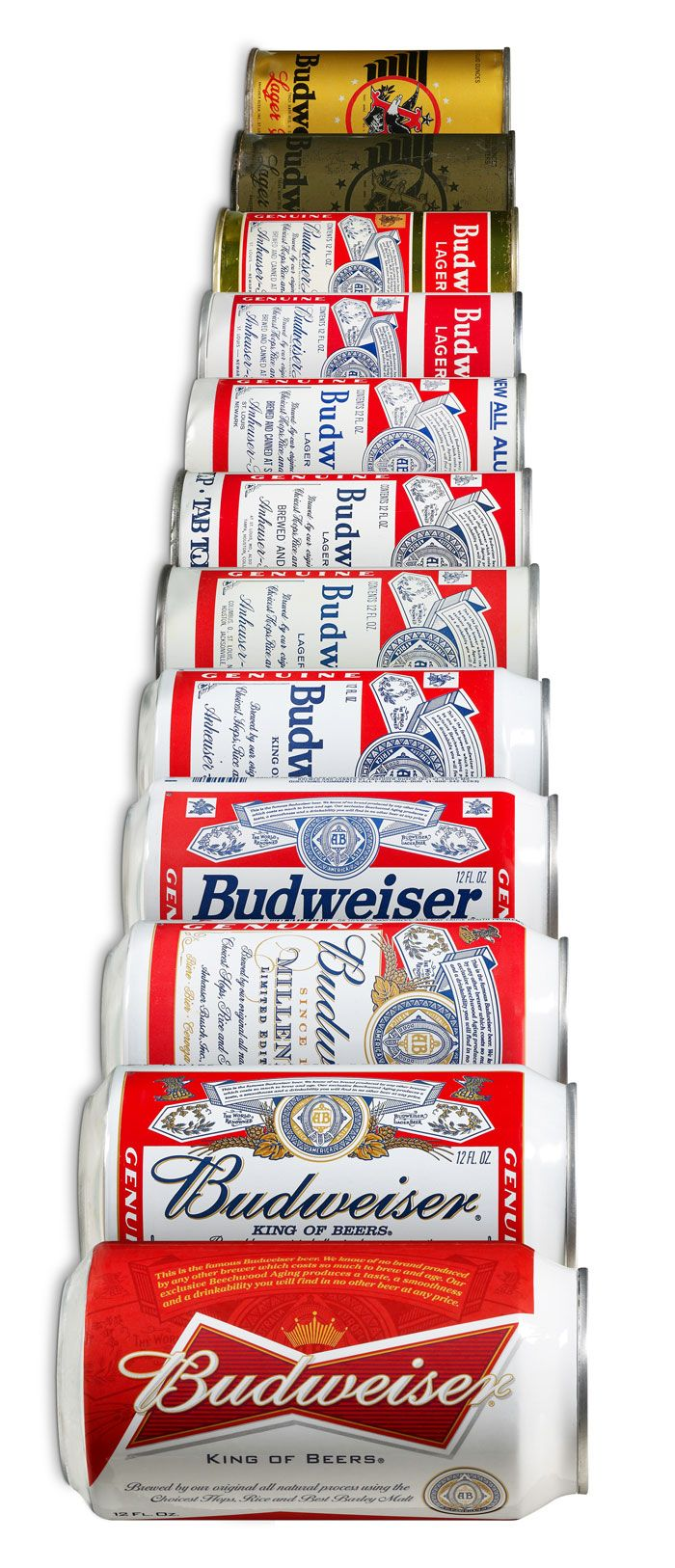 The evolution of the Budweiser beer can! #Budweiser #BeerlovesNEIndiana