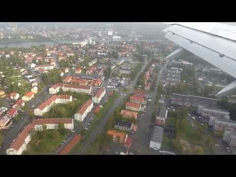 Landing at Airport Umea Sweden with Boeing 737-600 coming from Stockholm SK2026 - YouTube