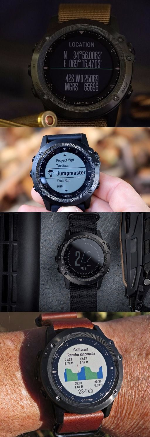 Garmin Tactix Bravo, Men's Tactical Watch Black with Nylon Strap
