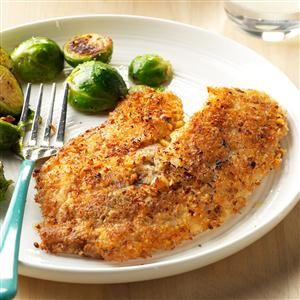Pecan-Coconut Crusted Tilapia Recipe -When I have guests with dietary restrictions, tilapia coated in pecans and coconut makes everyone happy. It's gluten free and loaded with flavor. —Caitlin Roth, Chicago, Illinois