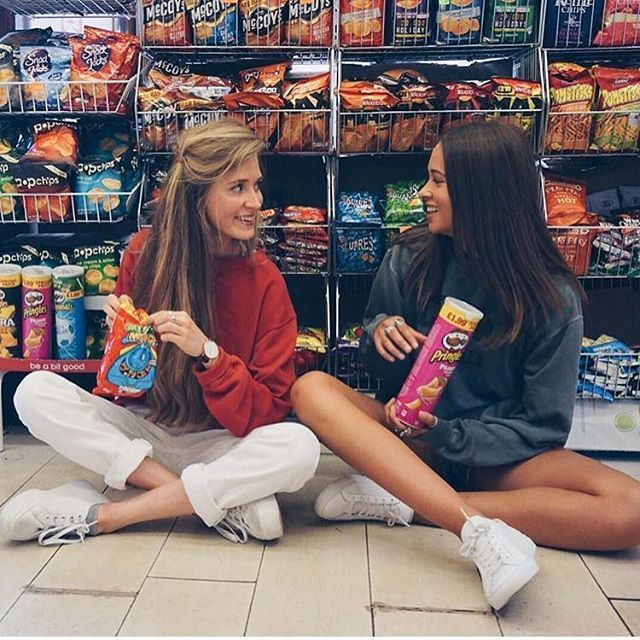 Have everyone go to seven elevn and take pics of them sitting with snacks..