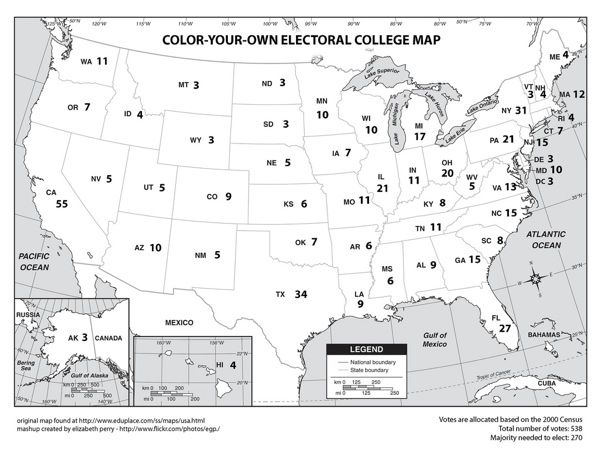 The Best Electoral College Map Ideas On Pinterest Electoral - Map of us without electoral college 2016