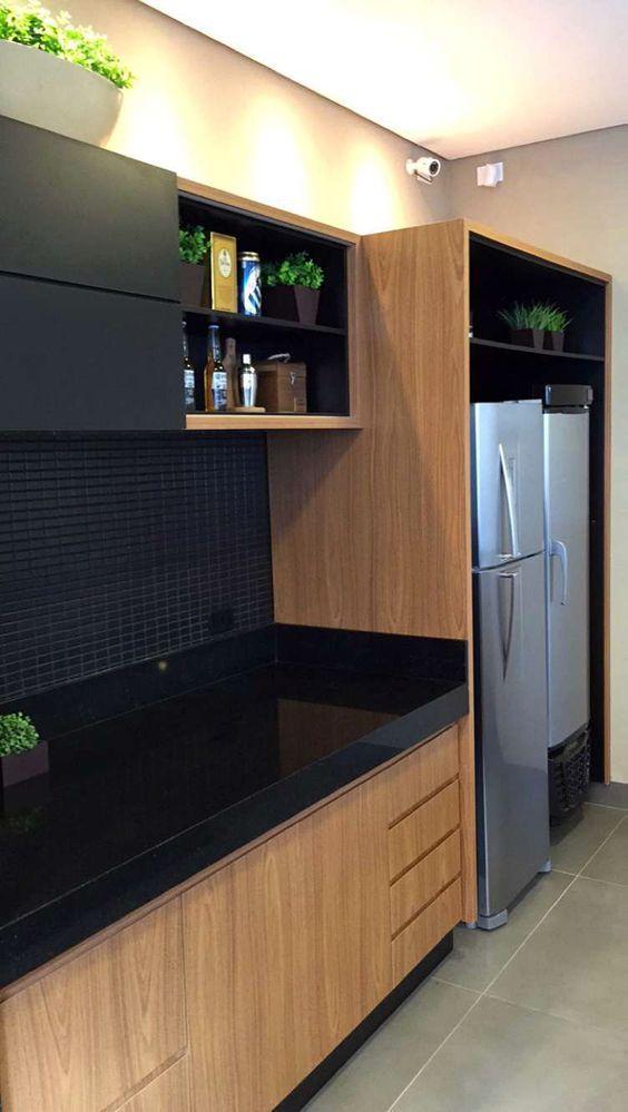 Área de churrasco moderna decorada na cor preta - linda! - Decor Salteado - Blog de Decoração e Arquitetura: