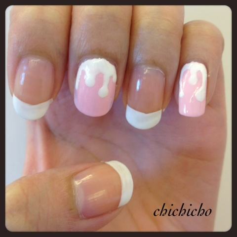 Donut Nails!!!! With Canmake Nail Topping Coat! | chichicho~ nail art addicts